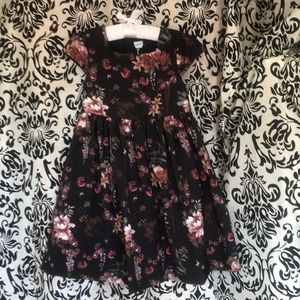 Edgehill Collection Black Floral Dress NEW